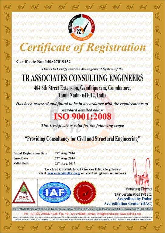 TR ASSOCIATES CONSULTING ENGINEERS
